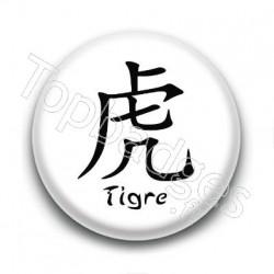 Badge Signe Chinois Tigre