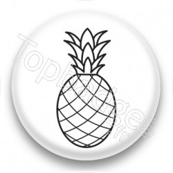 Badge Dessin d'Ananas