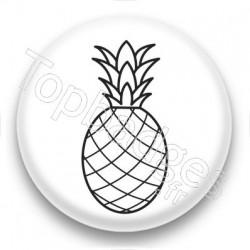 Badge Dessin d'Ananas
