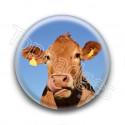 Badge Vache tirant la langue