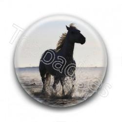 Badge Cheval dans la mer