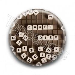 Badge Carpe Diem Scrabble