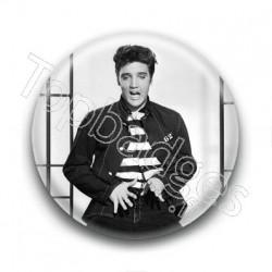 Badge : Grimace, chanteur Elvis Presley