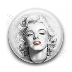 Badge : Dessin, actrice Marilyn Monroe
