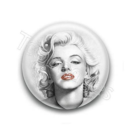Badge : Dessin, actrice Marilyn Monroe