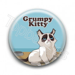 Badge Grumpy Kitty