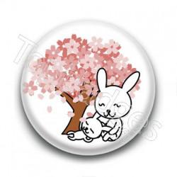 Badge : Lapins et sakuras