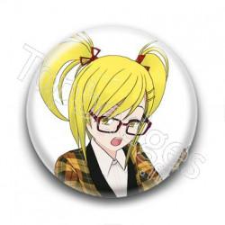 Badge : Manga fille écolière