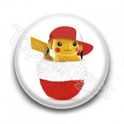 Badge Pikachu de Noël