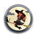 Badge Sorcière Halloween