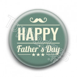 Badge Happy Father's Day Moustache
