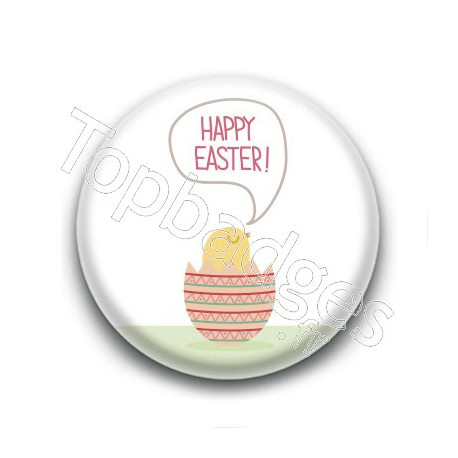 Badge : Happy Easter, poussin