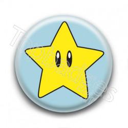 Badge Cute Etoile de Mario