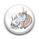 Badge Love Unicorn Forever
