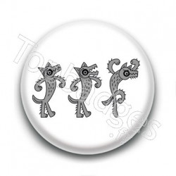Badge Trio de Loups