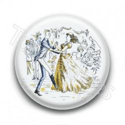 Badge Danse Mariage Vintage