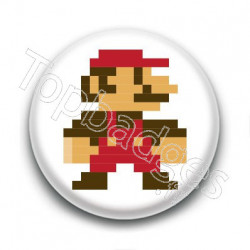 Badge Mario Color 8 Bit