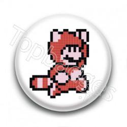 Badge Mario Raton Laveur 8 Bit