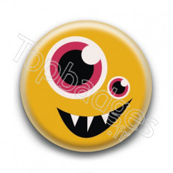 Badge Monstre Jaune