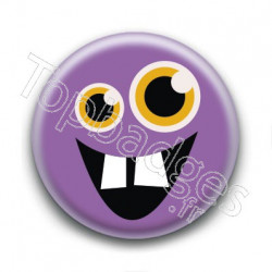 Badge Monstre Violet