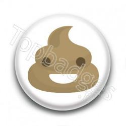 Badge Poop Smile