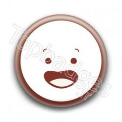 Badge Cute Smiley Très Content