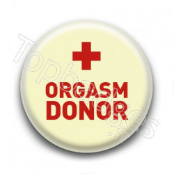 Badge : Orgasm donor