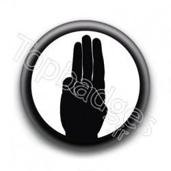 Badge Salut d'Hunger Games