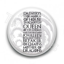 Badge : Daenerys Targaryen, Game of Thrones