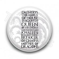 Badge Daenerys Targaryen
