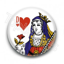 Badge Dame de Coeur