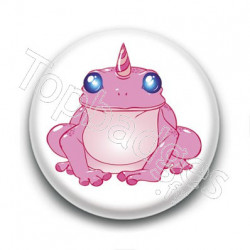 Badge Grenouille Licorne