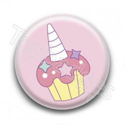 Badge Cupcake Licorne