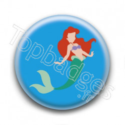 Badge Princesse Ariel
