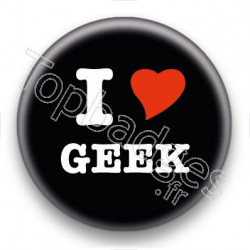 Badge I Love Geek
