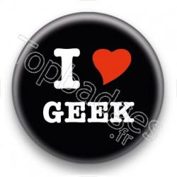 Badge I Love Geek