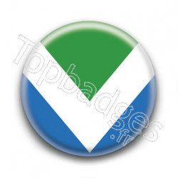 Badge Drapeau Vegan
