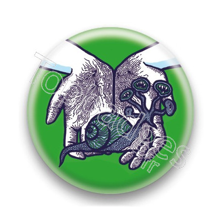 Badge Escargot Vert - by Arnopeople