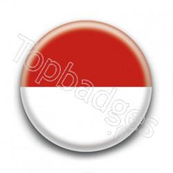 Badge Drapeau Monaco