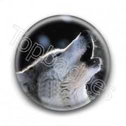 Badge Loup Hurlant