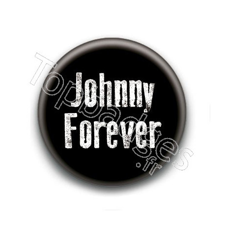 Badge : Johnny forever, fond noir