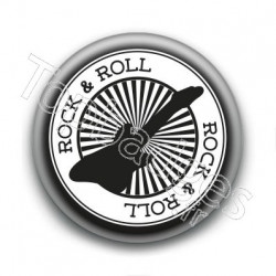 Badge Rock & Roll Guitare