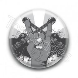 Badge Guitares & Cornes du diable