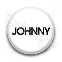 Badge : Johnny, fond blanc 1