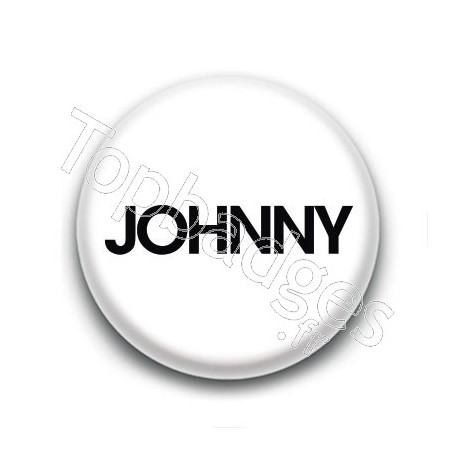Badge : Johnny, fond blanc 1