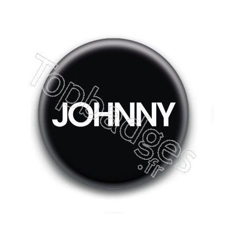 Badge : Johnny, fond noir 1