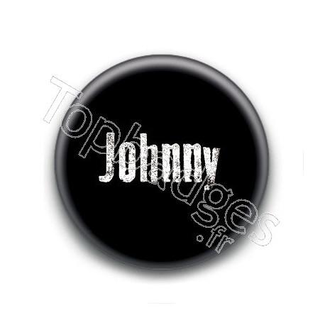 Badge : Johnny H, fond noir 2