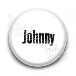 Badge : Johnny H, fond blanc 2