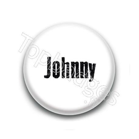 Badge : Johnny H, fond blanc 2