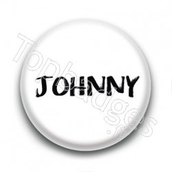 Badge : Johnny H, fond blanc 3